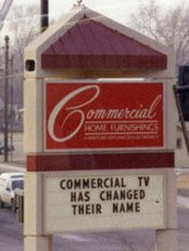 Commercial Home Furnishings sign