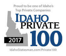 Proud to be one of Idaho's Top Private Companies.